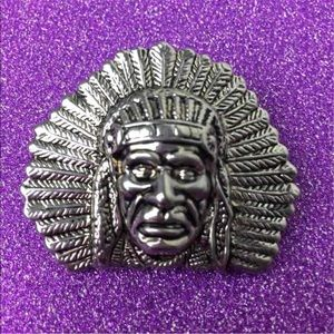 Vintage Indian Chief Brooch/Pendant Signed By Best